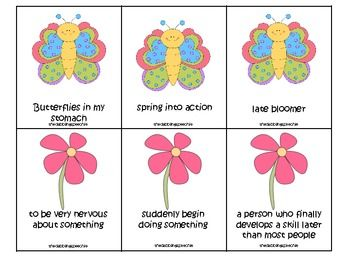 Free! Spring Time Idioms Activity Pack...8 pages!