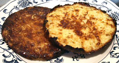 Cheesy Hashbrown Patties....  I've also made this with shredded rutabaga which is also quite good!