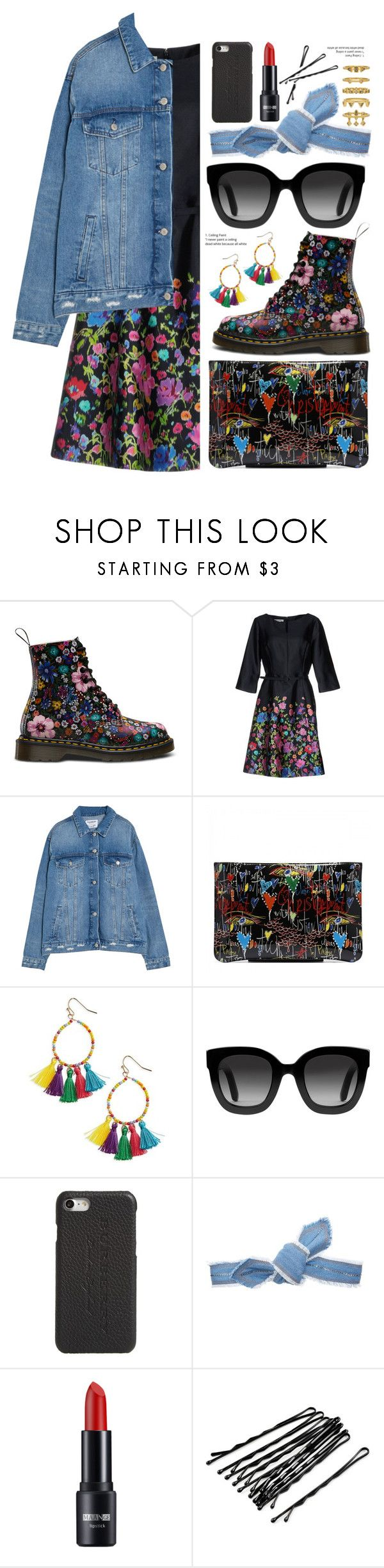 """""""Floral with denim"""" by fcris7176 ❤ liked on Polyvore featuring Oscar de la Renta, Panacea, Gucci, Burberry, Colette Malouf and Luv Aj"""