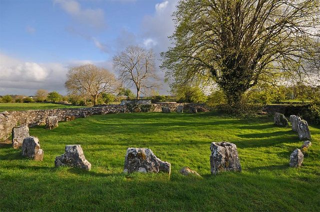 Glebe West Stone Circle in Cong, Mayo. One of many neolithic sites in the area, in legend it's the site of Battlefield of Maigh Tuireadh Conga, where the First Battle of Moytura occurred.