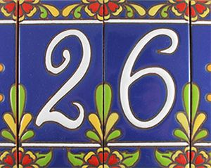 Decorative Tile House Numbers 92 Best Ceramic Tiles And Numbers Images On Pinterest  House