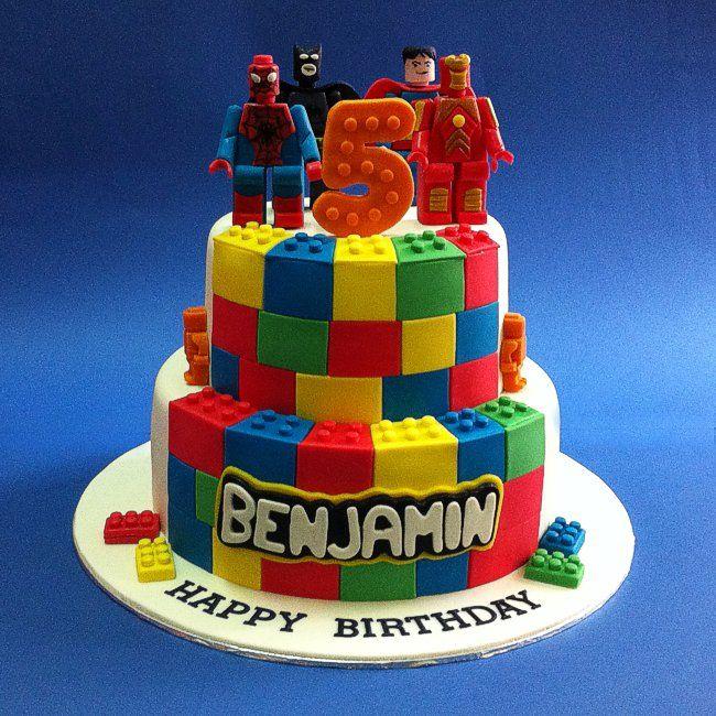 Fondant D Lego Marvel Superheros Festa Lucas  Anos Pinterest - Lego batman birthday cake