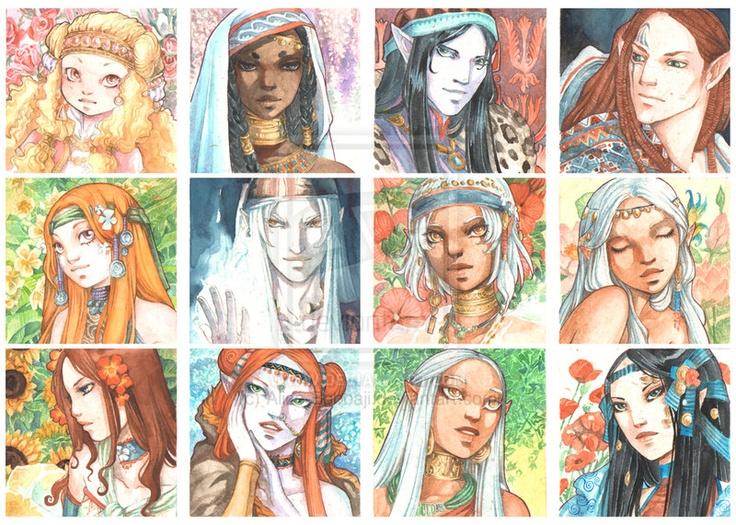 Faces 2012 by *Alice-Bobbaji