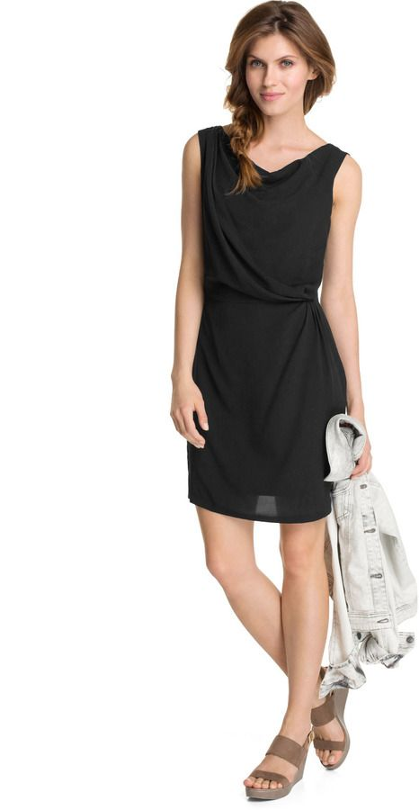 Esprit Drapiertes Kleid aus Crepe auf shopstyle.de
