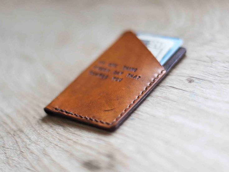 Custom Leather Wallet, Minimalist Wallet, Mens Christmas Present, Groomsmen Gift, Mens Wallet (Tan Color) by RedLeafLeather on Etsy https://www.etsy.com/sg-en/listing/180017770/custom-leather-wallet-minimalist-wallet