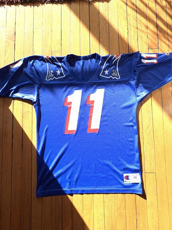 official photos 50192 70167 Vintage 1993 Drew Bledsoe Champion NFL Jersey | Products in ...
