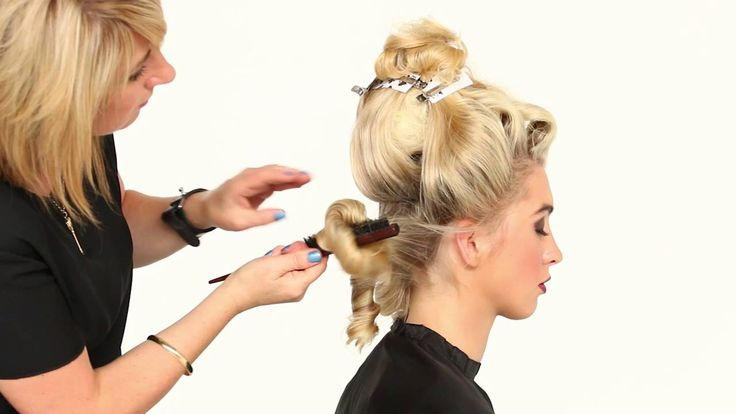 Lorna Evans Long Hair Tutorial - How to Stitch Hair Long Hair Styling, Updo, wedding hair, bridal