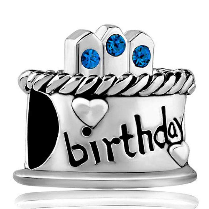 September Stone Birthday Cake Sapphire Crystal Candles Gift Holiday Beads Pandora Chamilia Compatible | Charmsstory.com #birthday #charms #pandora #sterlingsilver #beads #cake #september #candles