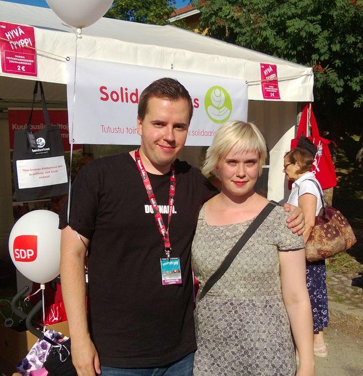 Ari Wigelius & Kaisa Penny - SDP Pirkanmaan jäätelökesäkampanjan merkeissä