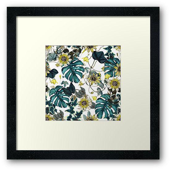 Framed Prints Tropical Flowers by talipmemis