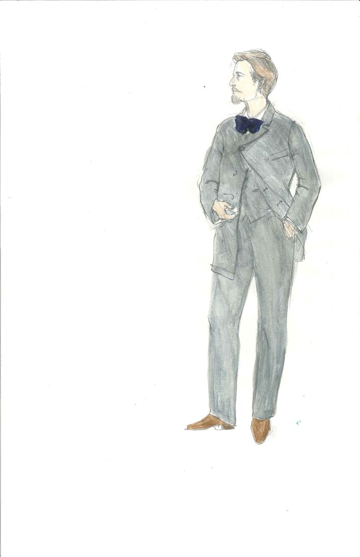Meg Neville's costume sketch for Lord Darlington, Act 4