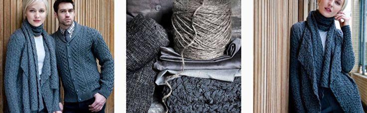 Irelandseye wollen truien en vesten.Geïnspireerd door de winderige kust van Ierland. Heerlijke warm en.... 100% wol.