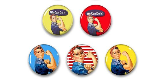 Rosie The Riveter Magnets Rosie The Riveter Gift Rosie The
