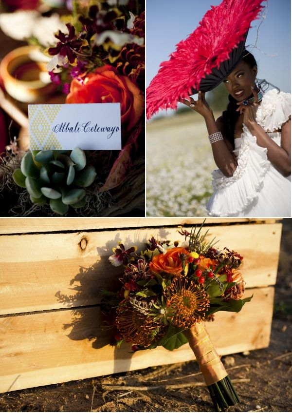 Safari Inspired Details help bring richness to this African Inspired Wedding