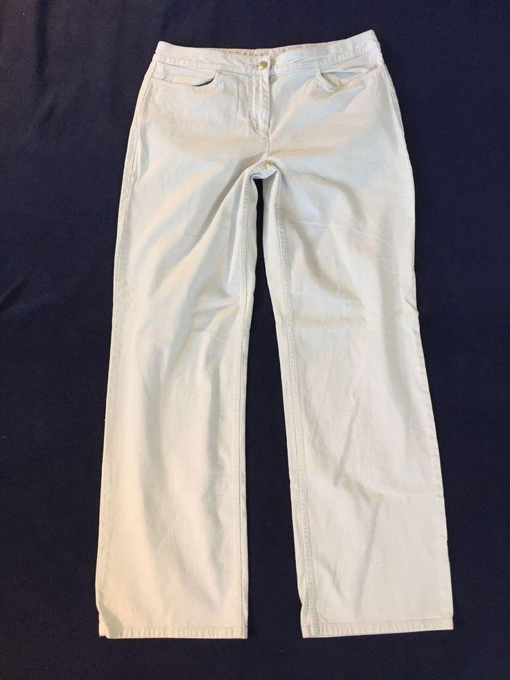Eileen Fisher Khaki Tan Chinos Five Pocket Pants Size Medium  | eBay