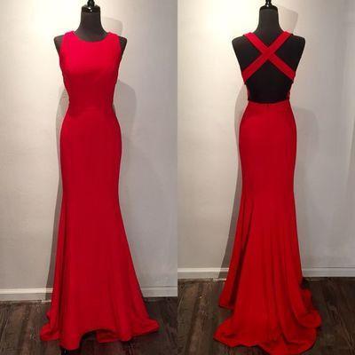 red prom dress,formal Prom Dresses,long Prom Dresses,backless prom dress, 2017 evening dress,BD2733