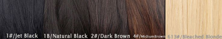 Clip In Hair Extensions Color Chart