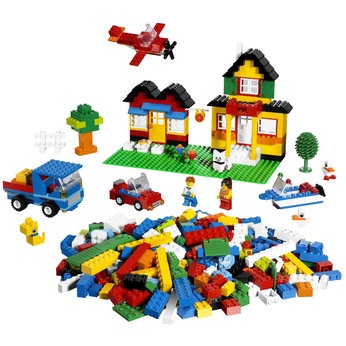 Lego Creator Deluxe Brick Box (5508) For the guests to play with. And for the kids to re-use.