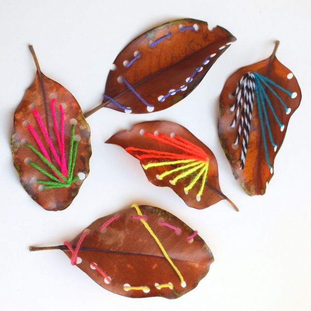Make Beautiful Leaf Sewing Art with Kids