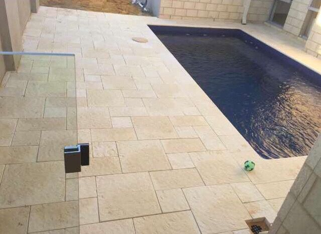 400 X 400 paver cut in 3 different ways adds a great effect