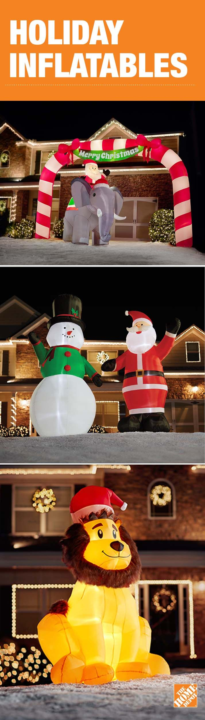 340 best inflatables images on pinterest christmas for Home depot inflatable christmas decorations