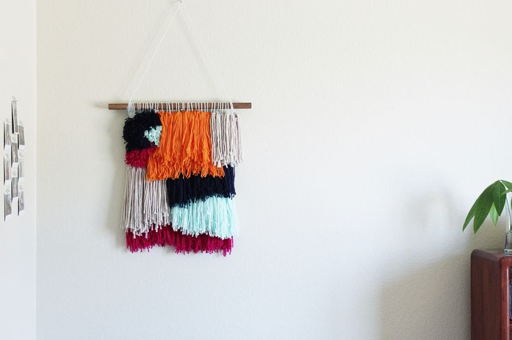 textured shag wall hanging || 14th & River