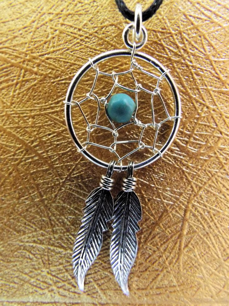 Beautiful handmade sterling 925 silver dreamcatcher with Turquoise.