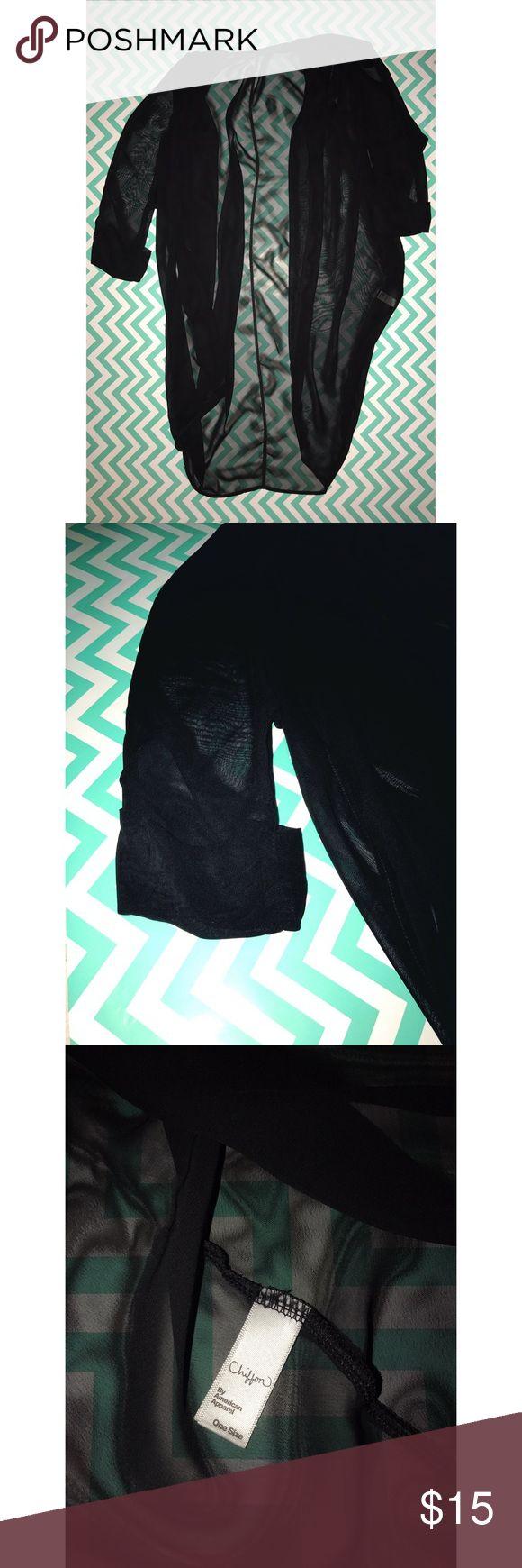 American Apparel chiffon shawl. New like used. American Apparel chiffon shawl. New like used. No holes or snags. American Apparel Sweaters Cardigans
