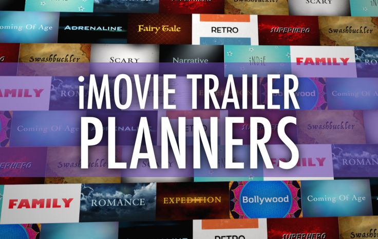 Plan a Better iMovie Trailer with These PDFs. AMAZING resource for iMovie! #edtechchat
