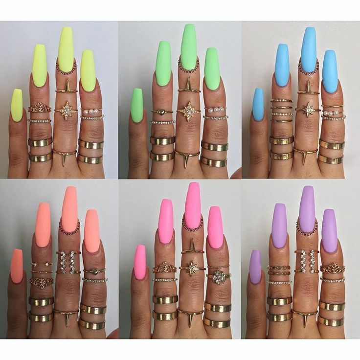 "304 Likes, 7 Comments - Leah Light - Behind The File (@nailsbyleah) on Instagram: ""What colour would you choose ?!   . . . Pastel neons (topped with a matte topcoat) from…"""