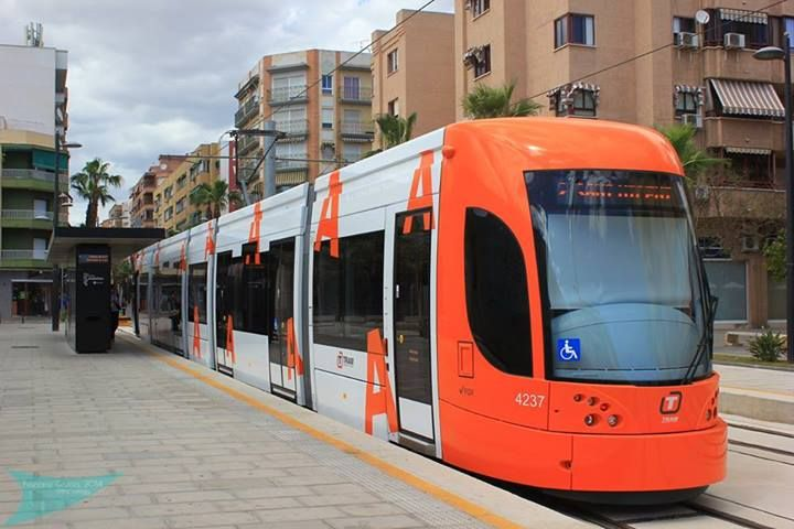 Tramway of Alicante, Valencian Community (Spain).