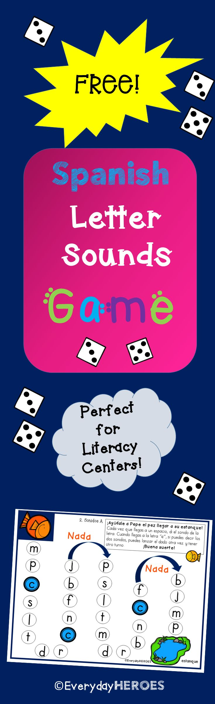 Your students will love practicing the letter sounds with this game! I hope you enjoy this freebie in your classroom.