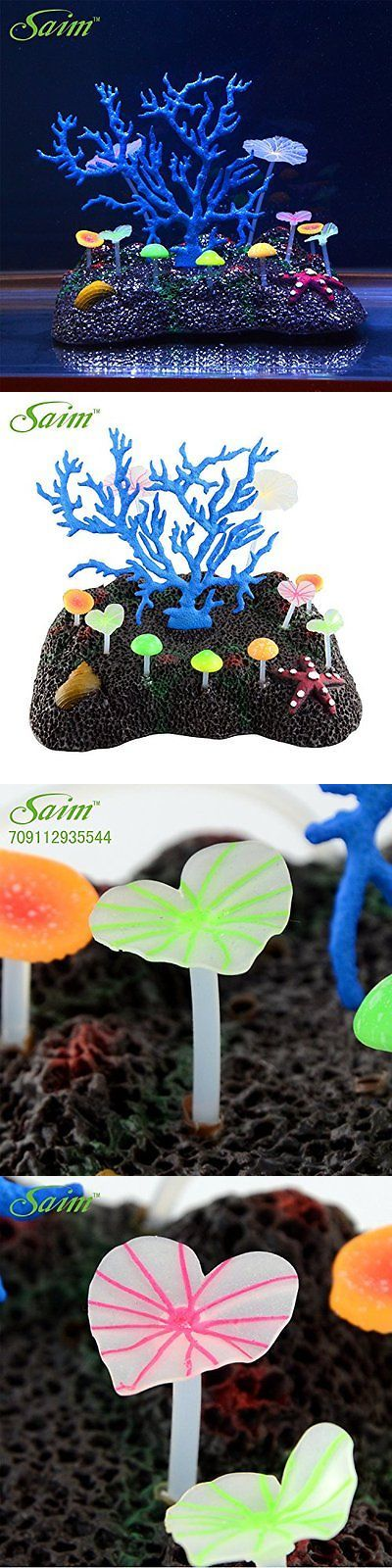 Animals Fish And Aquariums: Saim Glowing Effect Artificial Coral For Fish Tank Decorative Aquarium Sale BUY IT NOW ONLY: $32.33