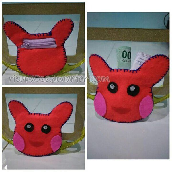 Hellooowww~ Pikachuuuuuuuuu ~~~ ^o^ This one is my collection felt craft. Made by me with my hand. I was thinking that i need coin purse it's made my wallet doesn't look full and also very simple w...