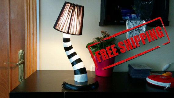 Black Beetlejuice Bed Lamp by Omulamp on Etsy