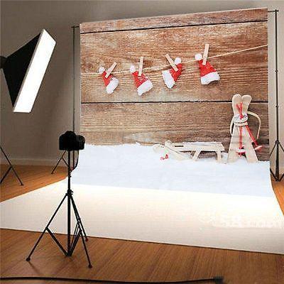 Vinyl CHRISTMAS Snow Hat Photography Background Prop Photo Studio Backdrop 7X5ft