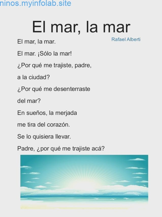 Poemas Para Ninos De Primaria Poems Spanish Spanish Class