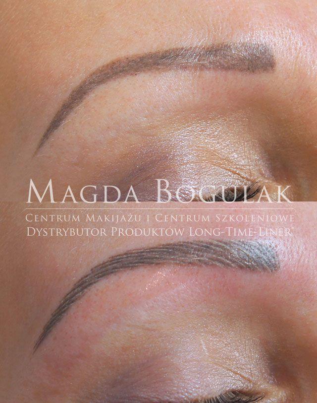 Makijaż permanentny brwi metodą włoskową, piórkową. Więcej informacji o makijażu: http://permanentnywarszawa.pl/zabiegi/makijaz-permanentny-brwi/