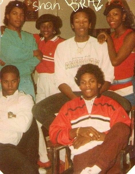 N.W.A: Eazy, Dre and Cube with friends 1987