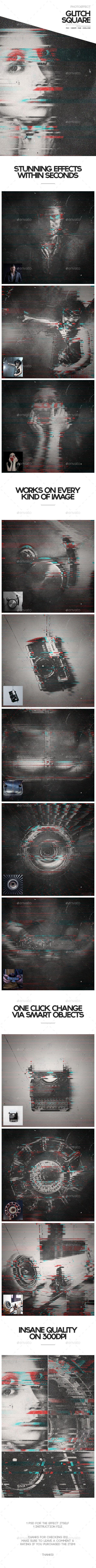 Glitch Square Photoeffect #design Download: http://graphicriver.net/item/glitch-square-photoeffect/11040111?ref=ksioks