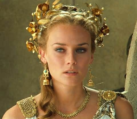 Diane Kruger as Helen of Troy. I know this sounds odd but her eyebrows are literally PERFECT