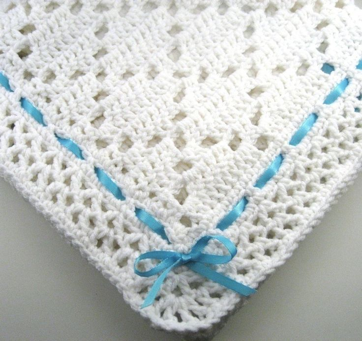 PDF Pattern Crocheted Baby Afghan, DIAMOND LACE Baby