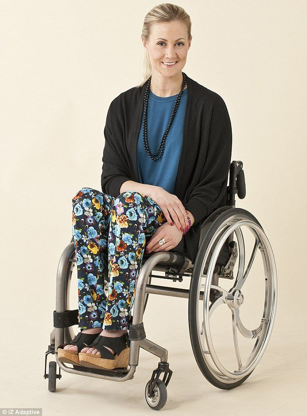 Photo of Young Woman who Uses a Wheelchair: Designer Is 'Giving Wheelchair Users Their Personality Back' Easy Wear, Fashion Labels, Black Sweaters, Blue Tops, Pants For Women, My Style, Wheelchairs, How To Wear, Wheels