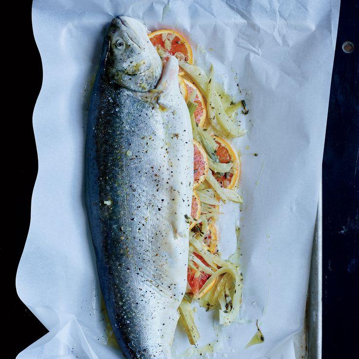 Whole Baked Trout with Fennel and Orange Recipe  - Victoria Elíasdóttir | Food & Wine