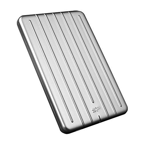 """Silicon Power 1TB Slim & Rugged Armor A75 Shockproof USB 3.0 (USB 3.1 Gen 1) 2.5"""" Portable External Hard Drive for PC, Mac (Xbox, PS4 Compatible), with Nylon Braided Type C to A Cable, Silver #Silicon #Power #Slim #Rugged #Armor #Shockproof #(USB #Portable #External #Hard #Drive #(Xbox, #Compatible), #with #Nylon #Braided #Type #Cable, #Silver"""