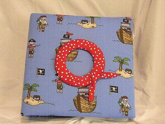 Baby Keepsake Book Blue with Pirates by GrandmasCraftingRoom