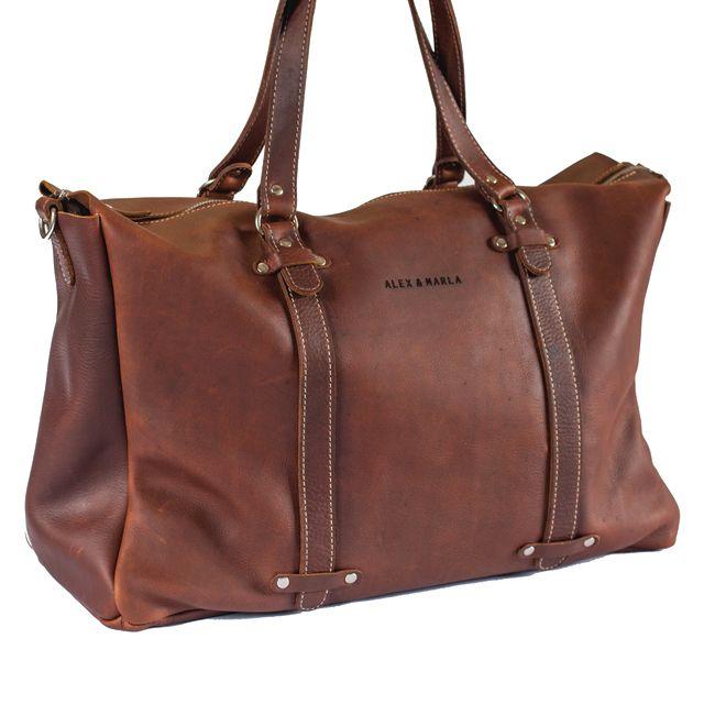 Leather Weekender Bag│ALEX & MARLA