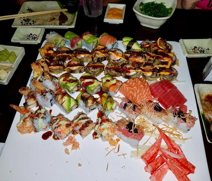 Endless sushi!!! Amazing at Yuniku Sushi Buffet