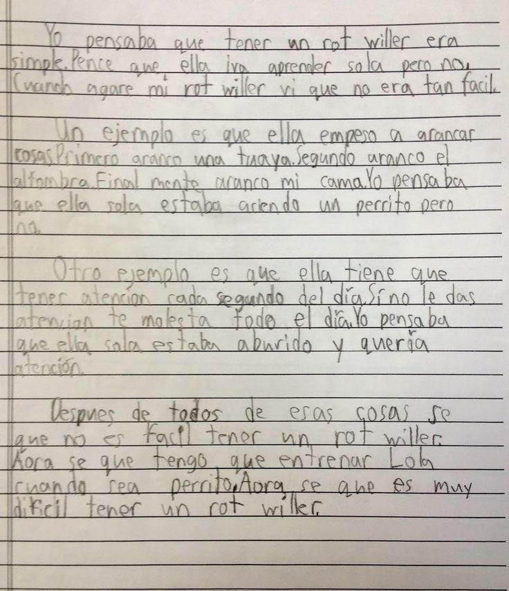 writing a paper in spanish