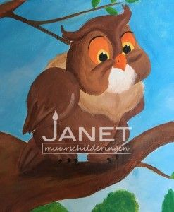 canvas-Bambi-Uil-detail